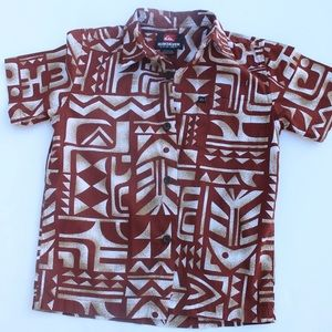 Quicksilver Tribal Patterned Button Up Shirt